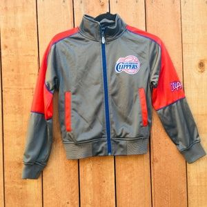 EUC Majestic NBA Clippers Youth Small Jacket
